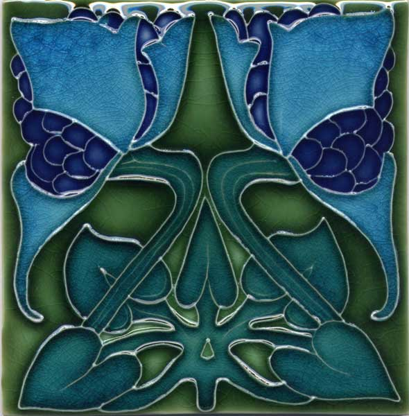 Art nouveau tile and arts and crafts tile reproductions for Arts and crafts floor tile