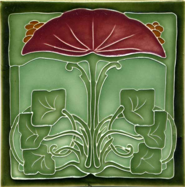 Art nouveau tile and arts and crafts tile reproductions for Arts and crafts tiles