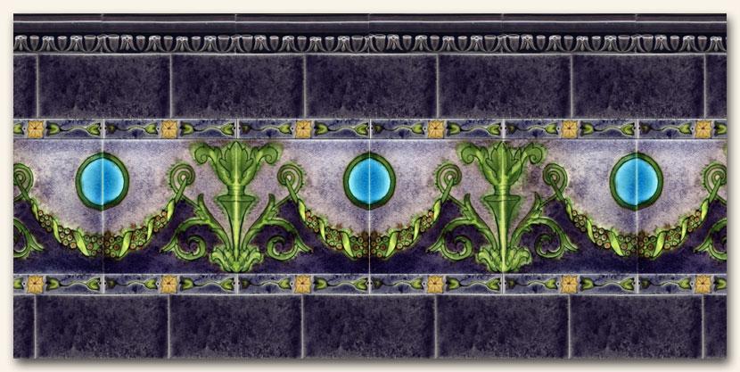 Ceramic tile edge pieces