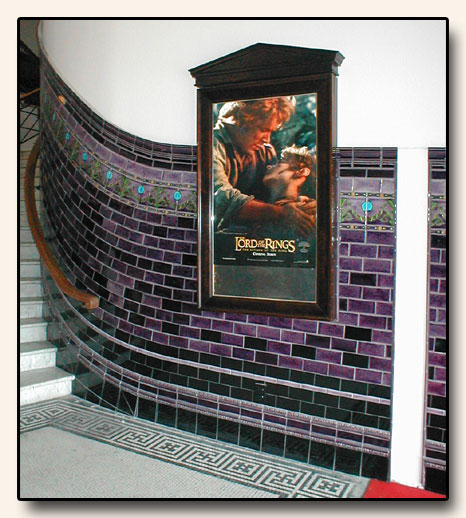 Porteous Tiles at the Embassy Theatre in Wellington, New Zealand