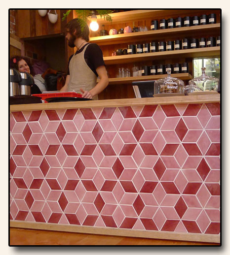 Porteous Tiles at Little Bird Organics in Auckland, New Zealand